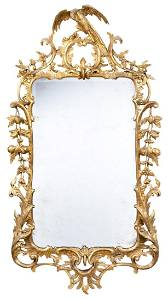 George II Giltwood Pier Mirror Circa 1755 In the manner
