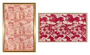 English Textile Depicting the Battle of Algiers;