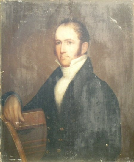 2003: American School 19th Century PORTRAIT OF A MAN