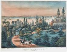 2039 Currier  Ives lithographers NEW YORK BAY FROM