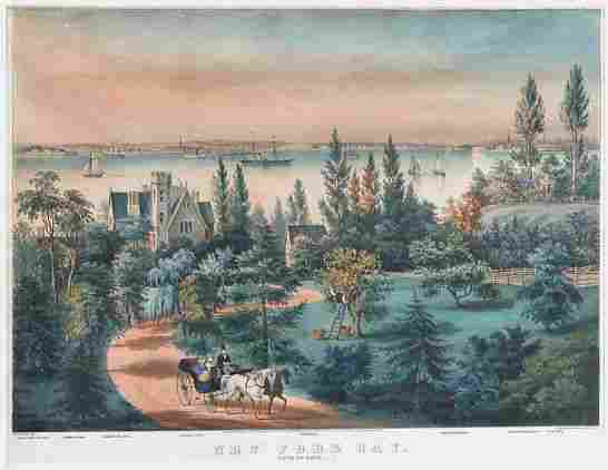 2039: Currier & Ives, lithographers NEW YORK BAY, FROM