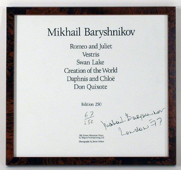 3004: BARYSHNIKOV, MIKHAIL Signature