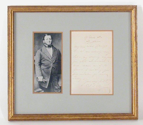 3005: BENJAMIN, JUDAH P. Autograph letter signed (