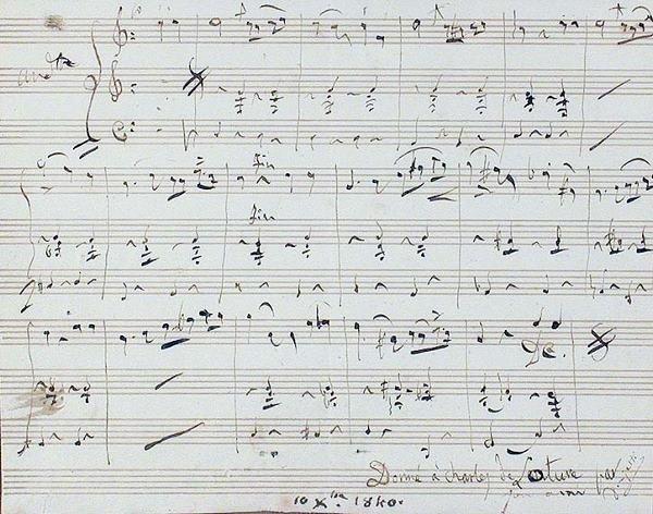 3008: DONIZETTI, GAETANO Autograph musical quotation