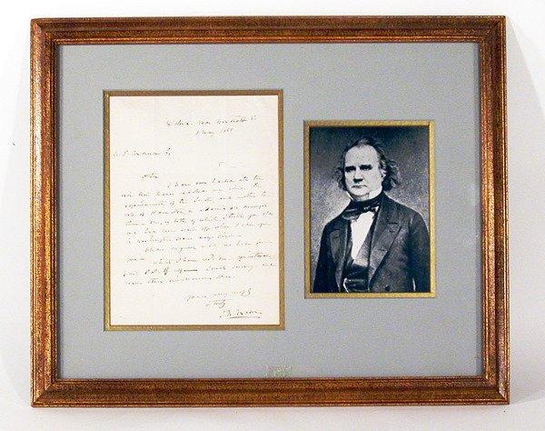3015: MASON, JAMES MURRAY Autograph letter signed (