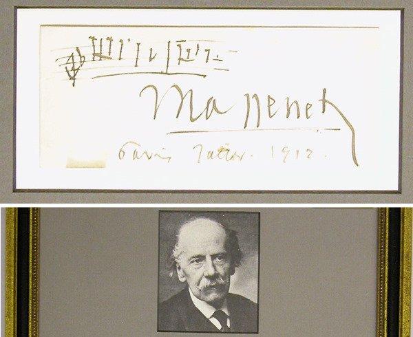 3016: MASSENET, JULES Autograph musical quotation
