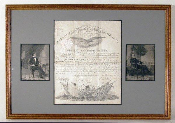 3018: PIERCE, FRANKLIN Document signed, one page, folio