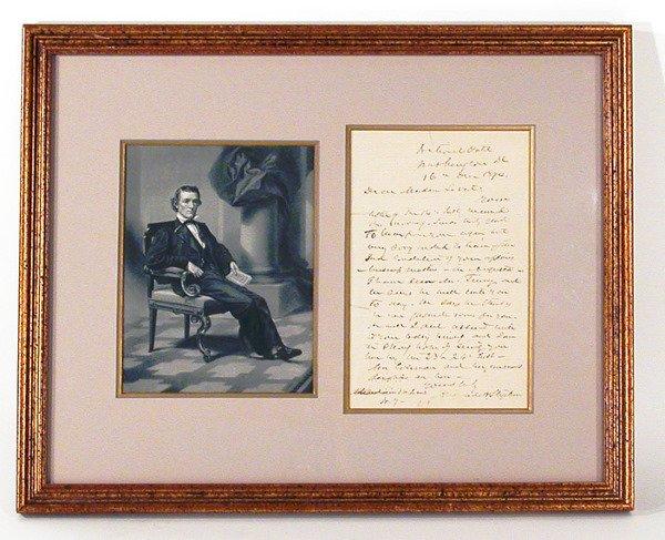 3021: STEPHENS, ALEXANDER H. Autograph letter signed, o