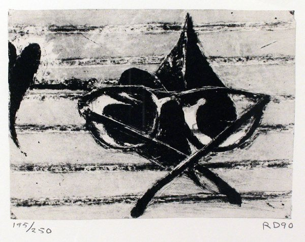 3126: Richard Diebenkorn UNTITLED Color lithograph