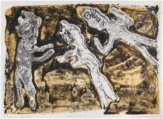 3131 Jean Dubuffet VACATIONS Color lithograph