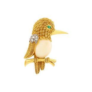 Van Cleef & Arpels Gold, Platinum, White Coral and