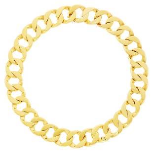 Verdura Gold 'Curb-Link' Necklace/Bracelet Combination