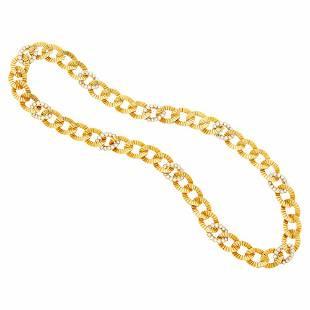 Van Cleef & Arpels Gold and Diamond Link