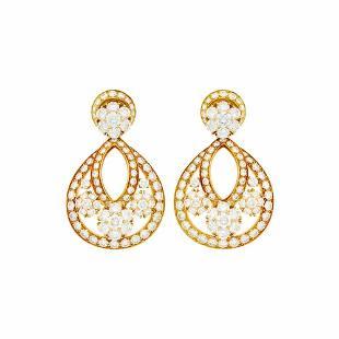 Van Cleef & Arpels Pair of Gold and Diamond 'Snowflake'