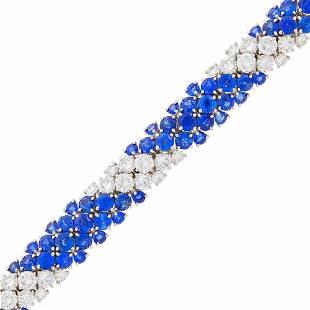 Van Cleef & Arpels Platinum, Sapphire and Diamond