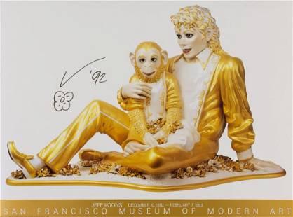 Jeff Koons MICHAEL JACKSON AND BUBBLES Color offset