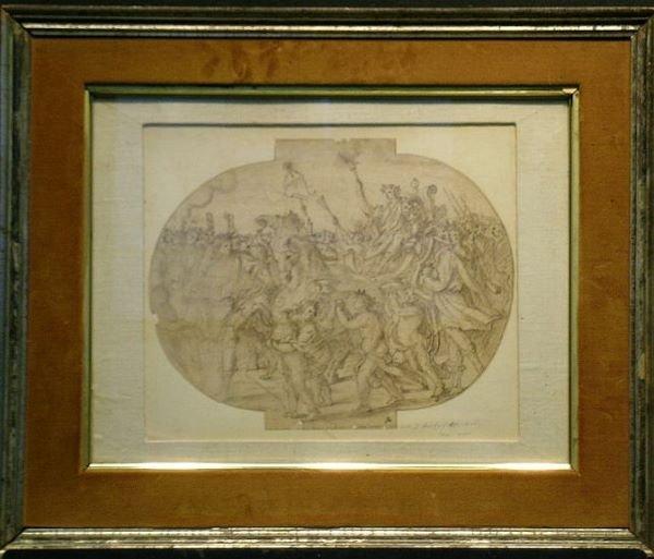 4001: Italian School 17th Century TRIUMPH OF JULIUS CAE