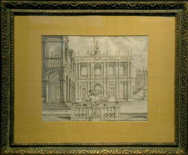 4003: Circle of Giuseppe Galli Bibiena ARCHITECTURAL FA
