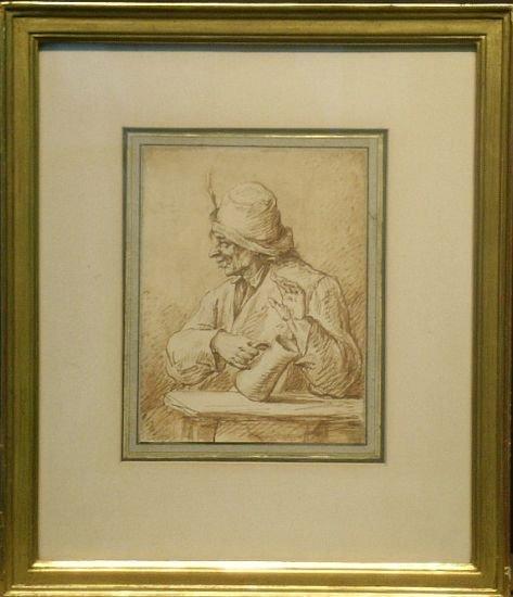 4005: Flemish School 17th/18th Century MAN IN TAVERN