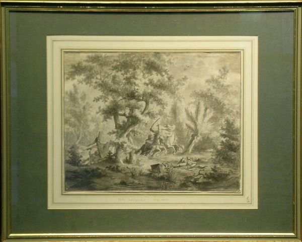 4007: Dirk Longendyk Dutch, 1748-1805 SKIRMISH IN THE W