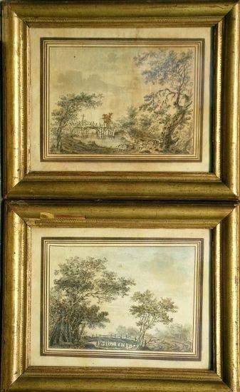 4008: Dutch School 18th/19th Century LANDSCAPES: TWO
