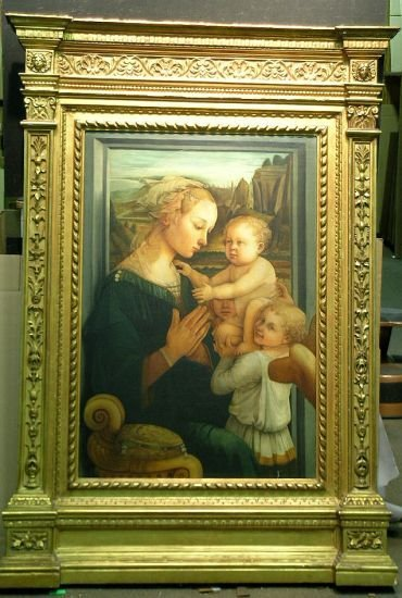 4015: After Filippo Lippi MADONNA AND CHILD WITH ANGELS