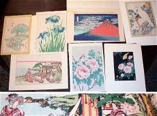 4203 Group of Six Japanese Woodblock Prints