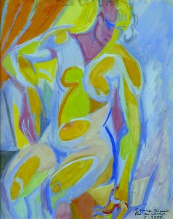 18: Andre Lhote French, 1885-1962 SEATED FEMALE NUDE