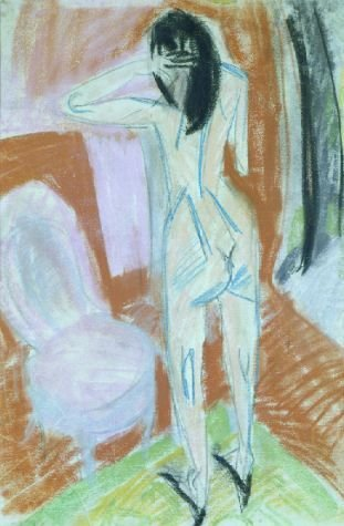 20: Ernst Ludwig Kirchner German, 1880-1938  NUDE WITH