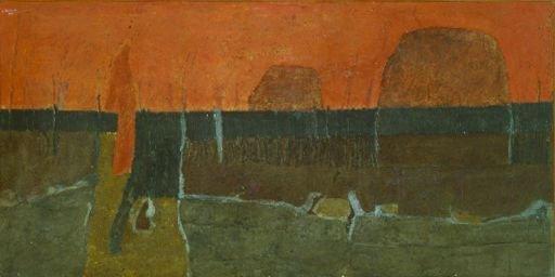 24: Giuseppe Uncini Italian, b.1929 ABSTRACT LANDSCAPE