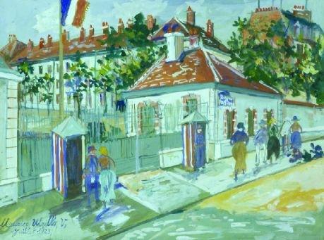 25: Maurice Utrillo French, 1883-1955 LA CASERNE DE LOU