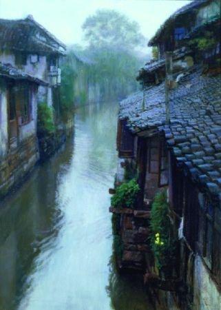 53: Chen Yifei Chinese, 1946-2005 CHINESE ELLOW FLOWER