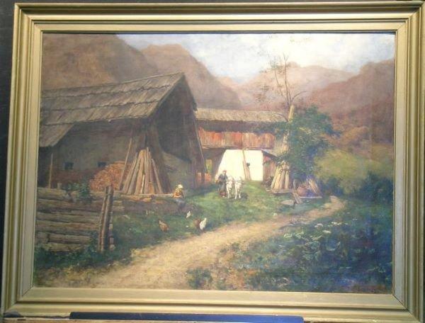 1001: Constantin Damianos Austrian, 1869-1953 BARNYARD
