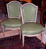1354: Set of Four Louis XVI Style Upholstered Painted S