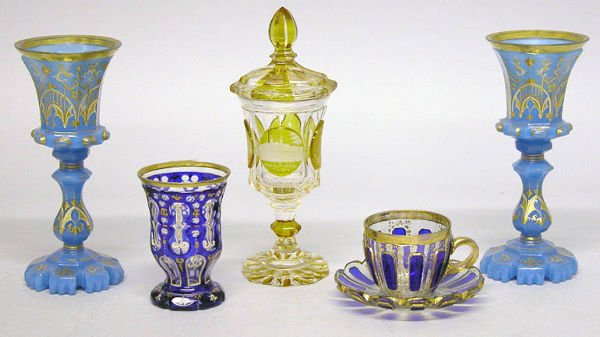 1466: Miscellaneous Group of Bohemian Cut Glass Article