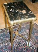 Pair of Neoclassical Style Marble Top Gilt-Bronze