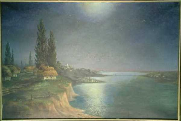 1005: German School 20th Century MOONLIT RIVER