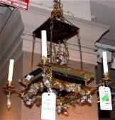 1372: Pagoda-Form Four-Light Fixture