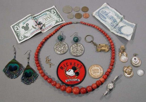 1: Group of Jewelry and $2 Bill