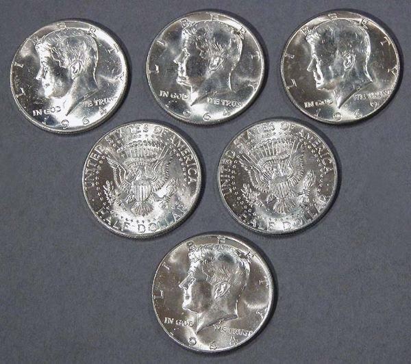 13: U.S. Half Dollar Coins