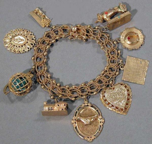 21: Gold Charm Bracelet