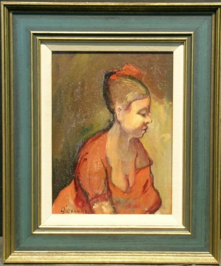2003: Attributed to Giovanni Martino WOMAN WITH A RED B