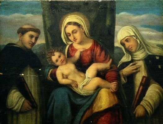 2018: Venetian School MADONNA AND CHILD WITH SAINTS