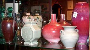 2246 Miscellaneous Group of Six Art Pottery Vases