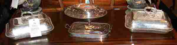2344 Miscellaneous Group of Four Silver Plated Covered