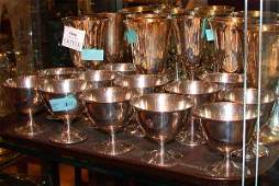 2366: Eight Gorham Sterling Silver Goblets; Together wi