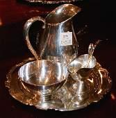 2379: Tiffany Sterling Silver Circular Tray, Bowl and L