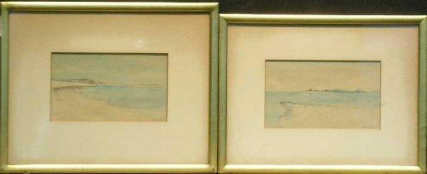 4: American School 20th Century COASTAL LANDSCAPES: TWO