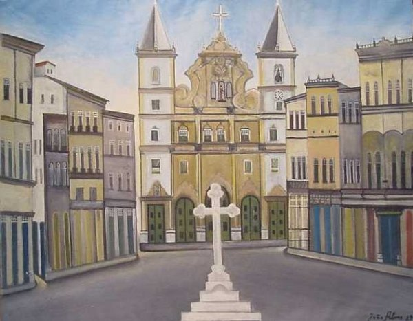 11: Joao Alves (?) Brazilian, 20th century TOWN SQUARE
