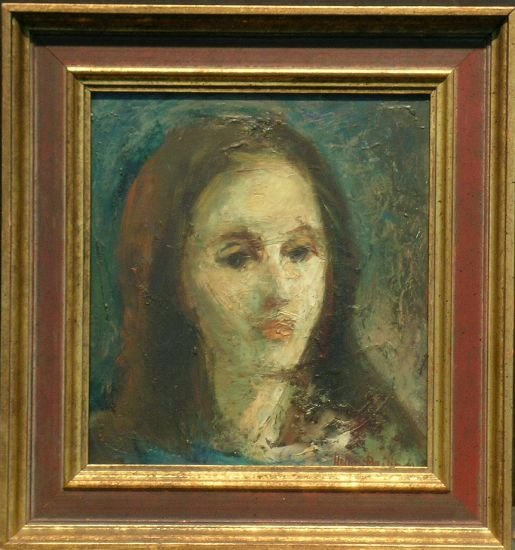 15: Hella Bailin American, b.1915 HEAD OF A YOUNG WOMAN